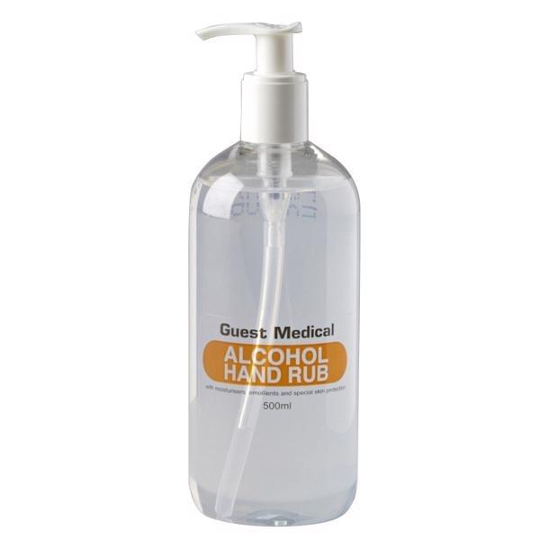 Hand Rub - Alcohol Gel - Worktop Pump 500ml (Guest Medical)