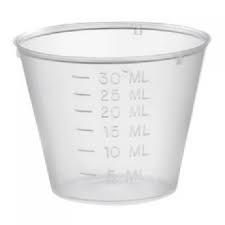Medicine Pots - Graduated Plastic 30ml (x 80)