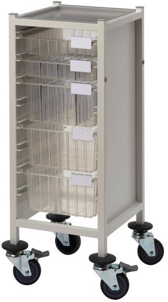 Multi-Store slimline procedure trolley - CA41022S3D