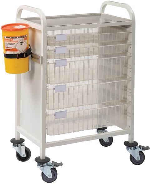 Multi-Store phlebotomy trolleys - CA4202P4D