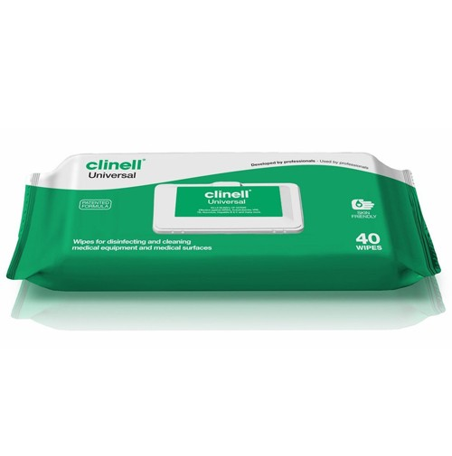clinel  Clinell Universal Sanitising Wipes (green/white) x 40
