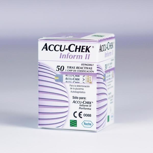 Diagnostic Test Strips - Accu-Chek Inform II (with chip) x50