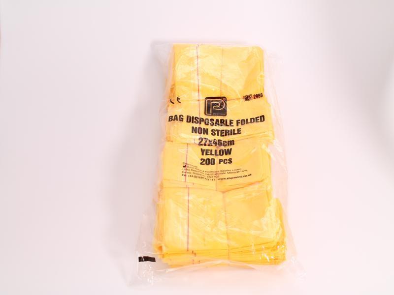 Clinical Waste Treatment Disposal Bags (adhesive strip) x 200