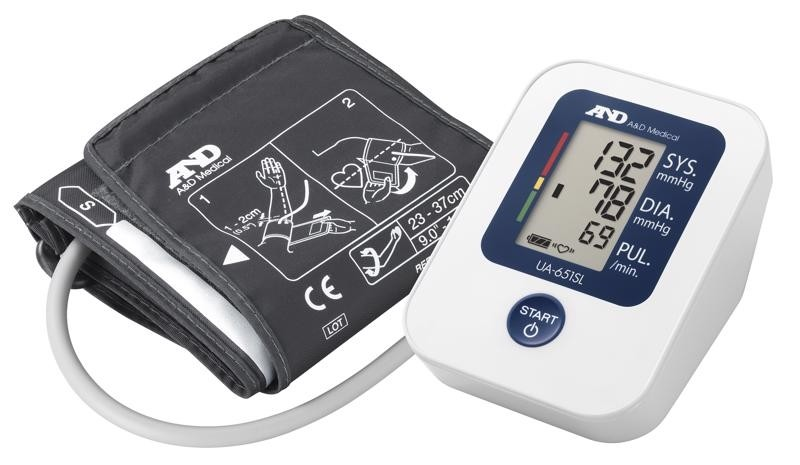 Blood Pressure Monitor - Digital - Upper Arm - A&D UA-651SL