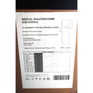 Medical Isolation Gown - White Non-Sterile (Pack of 10)