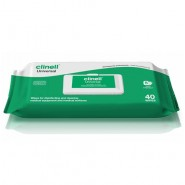 Sanitising Wipes - Clinell Universal (Green/White)  Pack of 40