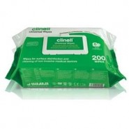 Sanitising Wipes - Clinell Universal (Green/White) x200