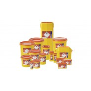 Sharps Bin - Orange lid - 18 Sizes