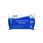 Sanitising Wipes - Clinell Antimicrobial (Blue/White) x20