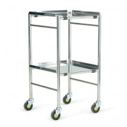 "Glamorgan 18"" x 18"" stainless steel instrument trolley"
