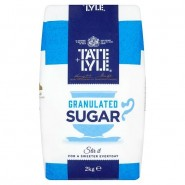 Sugar - Tate & Lyle Granulated - 2kg Bag