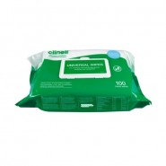 Sanitising Wipes - Clinell Universal (Green/White) x100