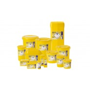 Sharps Bin - Yellow Lid - 17 Sizes